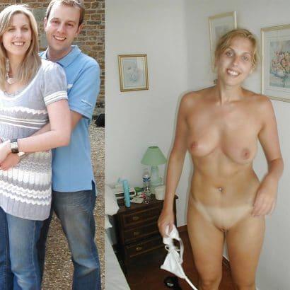 Nackt und angezogen Freundin