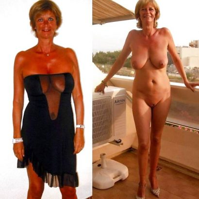 Nackt und bekleidet Mutter