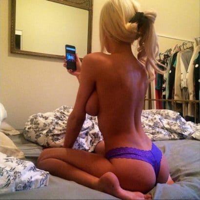 Nackt von hinten