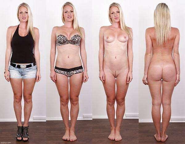 Angezogen mädchen nackt Nackt Und