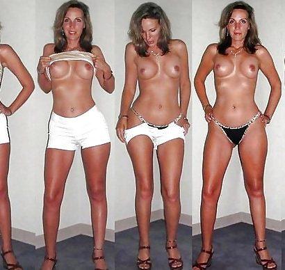 Nackt und angezogen Bilderreihe