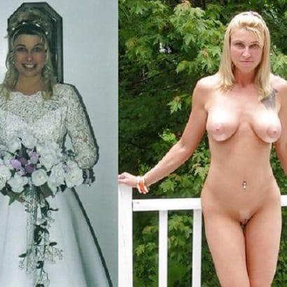 Nackt und angezogen Hochzeitskleid