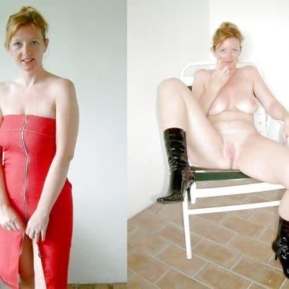 Nackt und angezogen Hure