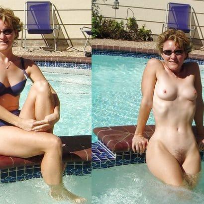 Nackt und angezogen imPool