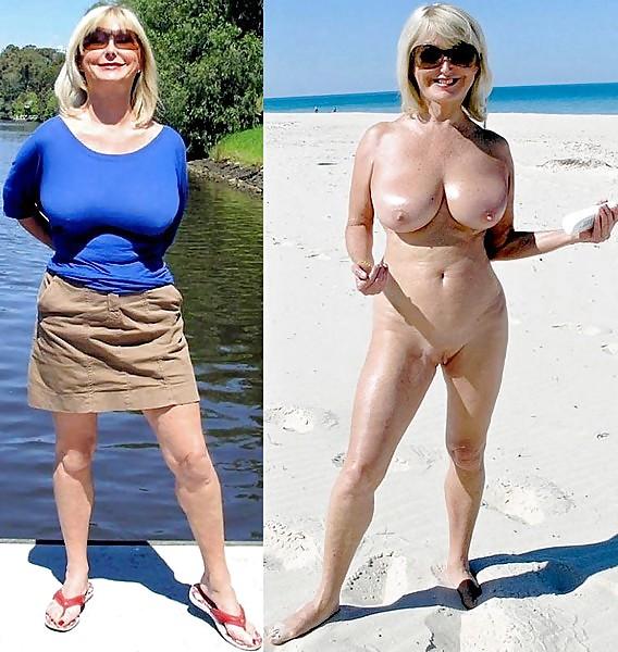 Bekleidet amateure nackt und Oma Bekleidet