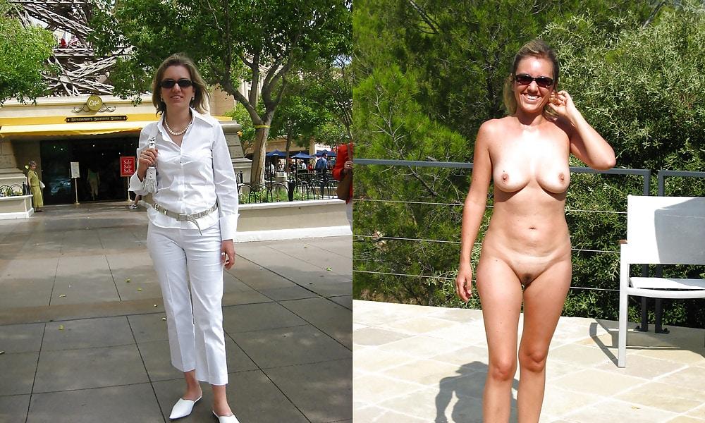 angezogen, ausgezogen, nackt vor und nach