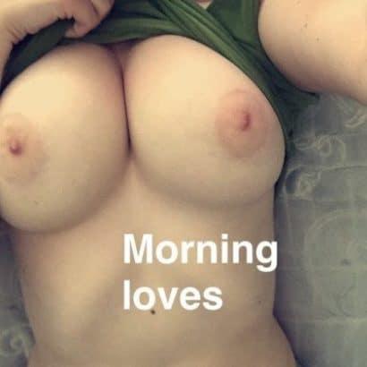Zeigefreudig am Morgen