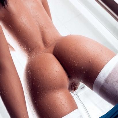 Zeigefreudig und nass