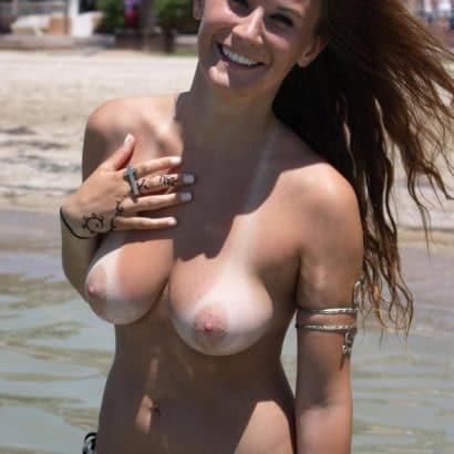 Nacktheit am strand