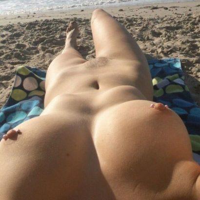 Selfie nackt am Strand